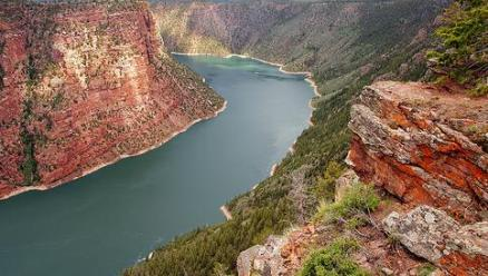 Flaming Gorge Reservoir  in southwest Wyoming